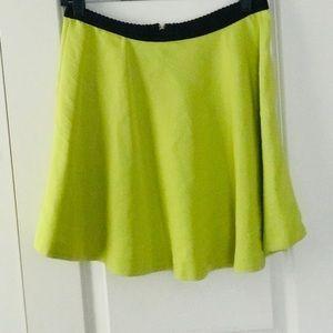 Neon Green Skater Skirt